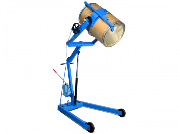 Blue Hydra lift karrier for drum handling, sold by Stewart Handling