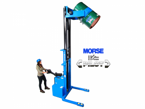 < Pilot > Power-Propelled Scale-Equipped Drum Mover / Pourer