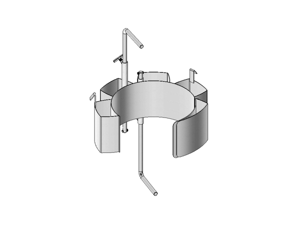 Stainless Steel Diameter Adaptors to Handle Smaller Drum 14