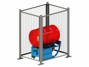 Enclosure W/ Safety Interlock for Portable Drum Rotators