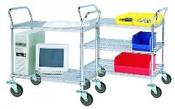 Chrome Plated Service Cart
