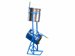 Blue PailPRO Double 5-gallon can tipper to reduce strain from frequent lifting and tipping.